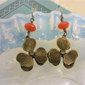 FOSSIL Floral Wire Wrap Earrings